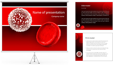 white blood cell and red blood cell powerpoint template backgrounds