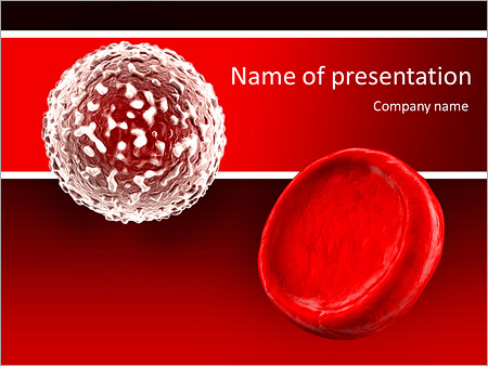 white blood cell and red blood cell powerpoint template, Modern powerpoint