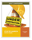 Helmet for builder worker. Traffic cones. Under construction sign. Icon isolated on white background Word Templates