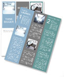 Abstract interior of glass blocks Newsletter Templates