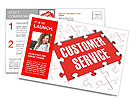 Customer Service Puzzle Showing Support, Assistance And Help Postcard Template