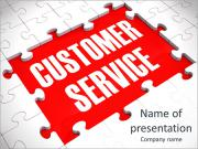 Customer Service Puzzle Showing Support, Assistance And Help PowerPoint Templates
