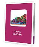 Several different colorful fabric socks rolls Presentation Folder