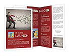 Businessman attracts money with a large magnet Brochure Templates