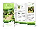 Lovely, public spring garden, Scotland Brochure Templates