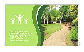 Lovely, public spring garden, Scotland Business Card Template