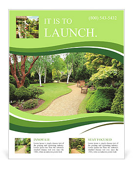 Lovely Public Spring Garden Scotland Flyer Template Design ID - Landscaping flyer templates