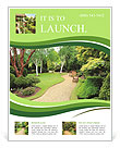 Lovely, public spring garden, Scotland Flyer Template