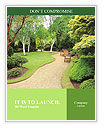 Lovely, public spring garden, Scotland Word Templates
