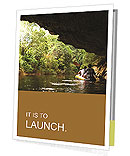 Kayaking from backward view. Presentation Folder