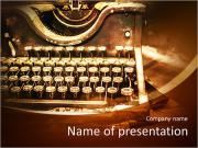 Old rusty typewriter PowerPoint Templates