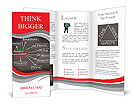 Conceptual hand drawn project management flow chart on black chalkboark. Business concept words. Brochure Templates