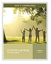 An asian family jumping in joy in the park during a beautiful sunrise, backlight Word Templates