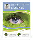 Face with leaf texture Flyer Templates