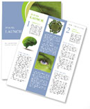 Face with leaf texture Newsletter Template