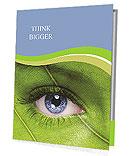 Face with leaf texture Presentation Folder