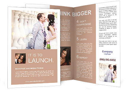 Wedding Brochure Template & Design Id 0000009411 - Smiletemplates.Com