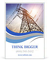 High voltage post.High-voltage tower sky background. Ad Template