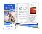 High voltage post.High-voltage tower sky background. Brochure Templates