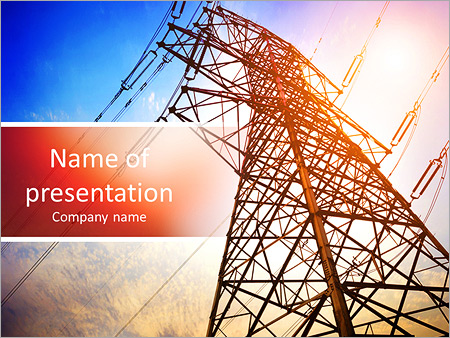 high voltage post.high-voltage tower sky background. powerpoint, Presentation templates