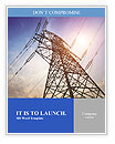 High voltage post.High-voltage tower sky background. Word Templates