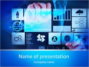 Businessman hand working with new modern computer and business strategy as concept PowerPoint Templates