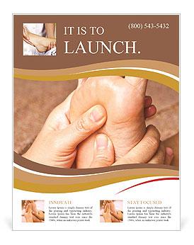 reflexology foot massage spa foot treatment thailand flyer template