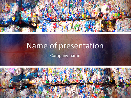 Compacted recyclable plastic waste at a recycling plant powerpoint compacted recyclable plastic waste at a recycling plant powerpoint template toneelgroepblik Gallery