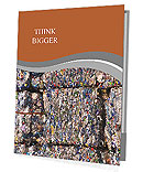 Compacted recyclable plastic waste at a recycling plant. Presentation Folder