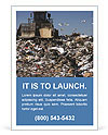 Truck moving trash in a landfill Ad Template