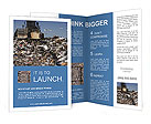 Truck moving trash in a landfill Brochure Templates