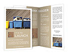 Overfilled trash of large wheelie bins for rubbish, recycling and garden waste Brochure Templates