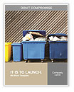 Overfilled trash of large wheelie bins for rubbish, recycling and garden waste Word Templates