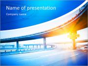 Concrete road curve of viaduct in shanghai china outdoor. PowerPoint Templates
