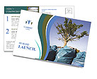 Tree growing from the garbage Postcard Template