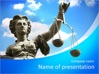 Justice - justizia PowerPoint Template