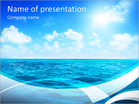 perfect sky and water of ocean powerpoint template backgrounds