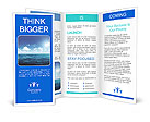 Perfect sky and water of ocean Brochure Templates
