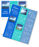 Perfect sky and water of ocean Newsletter Template