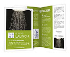 Shower with faling wather isolated on black Brochure Templates