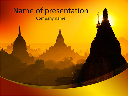Sunrise over ancient bagan myanmar powerpoint template sunrise over ancient bagan myanmar powerpoint templates toneelgroepblik Choice Image