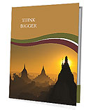 Sunrise over ancient Bagan, Myanmar Presentation Folder