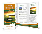 Golf ball about to fall into the cup at sunset Brochure Templates