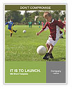 Boy kicking football on the sports field Word Template