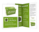 Car battery with green recycle sign. 3d Brochure Templates