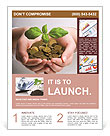New business perspective - seedling in coins Flyer Template