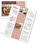 New business perspective - seedling in coins Newsletter Template