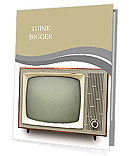 Vintage TV set isolated. Clipping path included. Presentation Folder