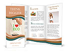 "Big flax eco bag ""I love eco"" Brochure Templates"