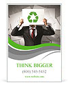 Image of man holding board with recycling sign Ad Templates
